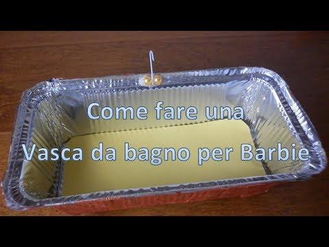 Vasca Da Bagno Barbie : Diy come fare vasca per barbie how to make a bathtub for doll youtube