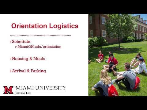 Summer Orientation Registration - Miami University