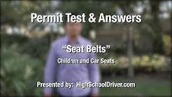 Seat Belt Laws for Children - Florida Permit Test
