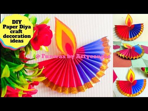 DIY Paper Diya for Christmas decoration | Paper craft decoration ideas for Christmas | Make lamp