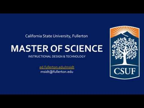 Info Session Part 1: Overview of Master of Science in Instructional Design & Technology