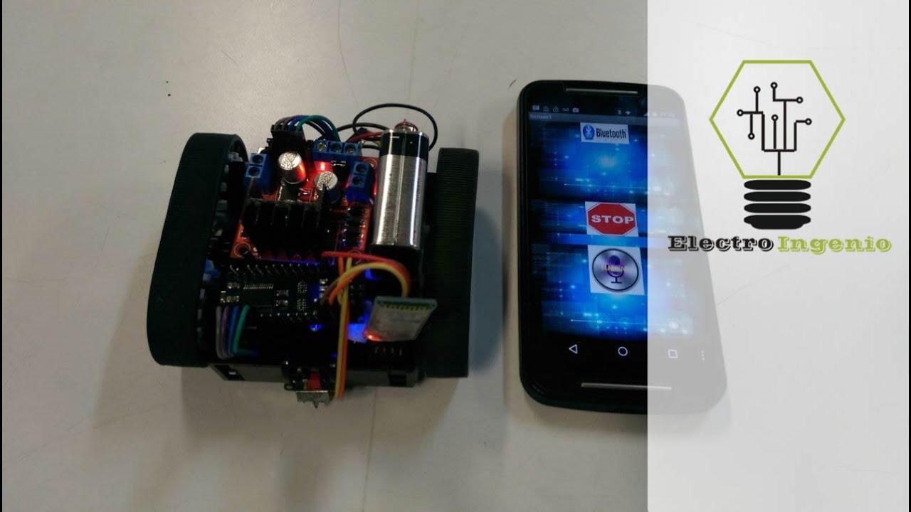 Arduino projects robot voice control por voz