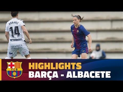[HIGHLIGHTS] FUTBOL FEM (Lliga): FC Barcelona – F. Albacete (3-0)