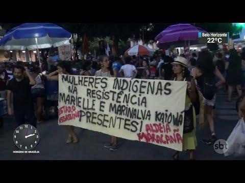 Manifestação lembra o sétimo dia da morte de Marielle Franco | SBT Notícias (21/03/18)