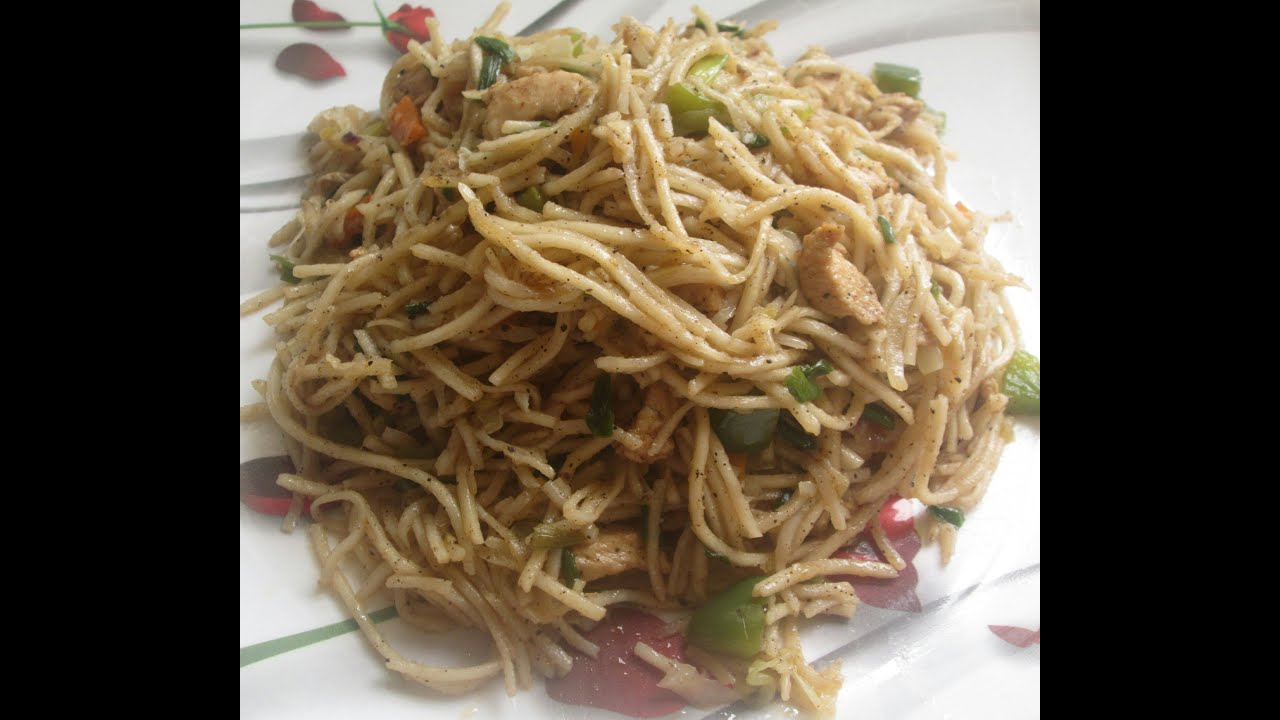 Chicken Noodles Recipe Learn In 2 Minutes Or Less Kerala