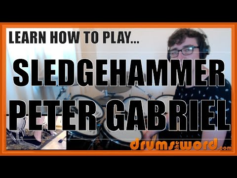 ★ Sledgehammer (Peter Gabriel) ★ Drum Lesson PREVIEW | How To Play Song (Manu Katche)