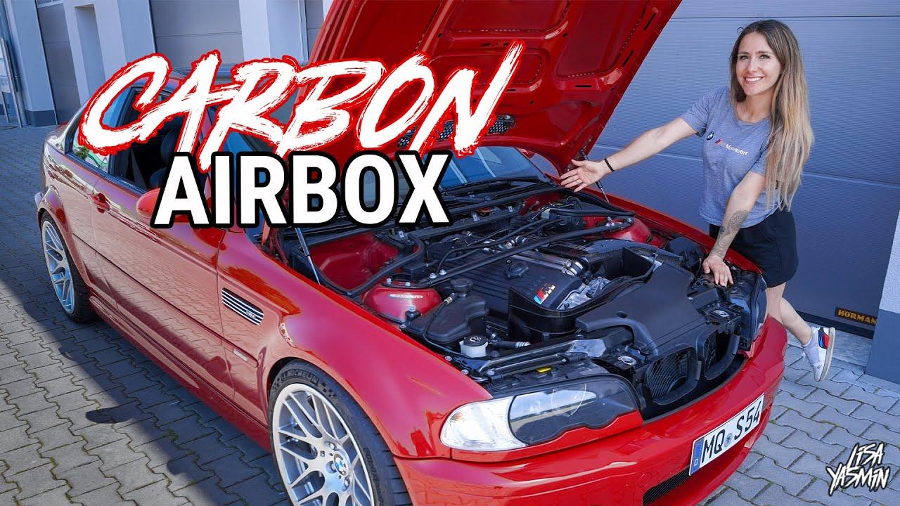 Airbox mit mega Sound 🥵   Carbon Airbox Karbonius   BMW E46 M3   Lisa Yasmin