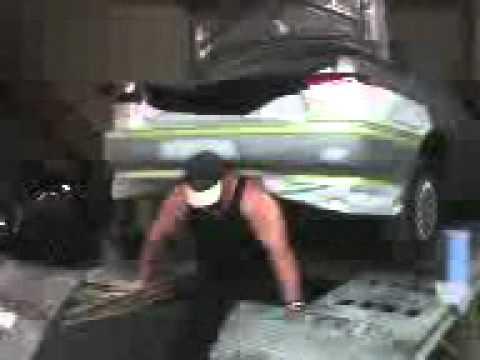 joe brandi lifting a car at rear axel with weight at 1500 pounds