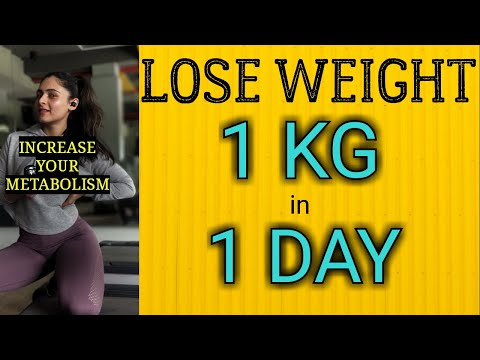Lose 1kg in 1 day || Lose Weight Without Exercise at home  #loseweightfast #lose10kgin10days