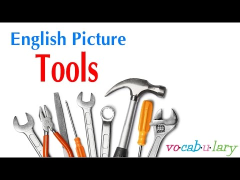 English Picture – Lesson 22 - Name of Tools