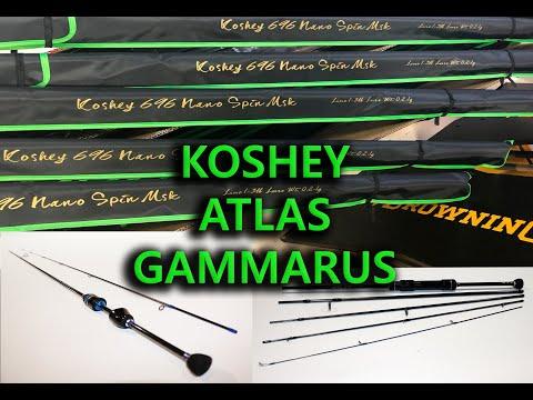 Спиннинги для мормышинга: Koshey 696. Gammarus. Atlas.