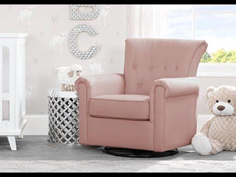 Delta Children Harper Glider Swivel Rocker Chair, Blush