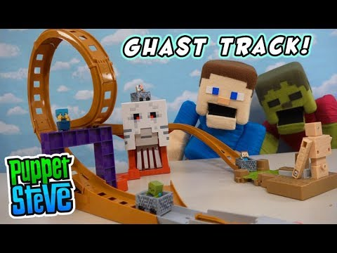 Minecraft Hot Wheels GHAST ATTACK Racing Playset Unboxing
