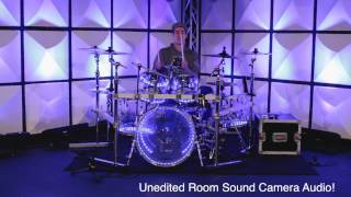Pearl Crystal Beat - Clear Acrylic Drums - Sound Test - Improv Drum Solo