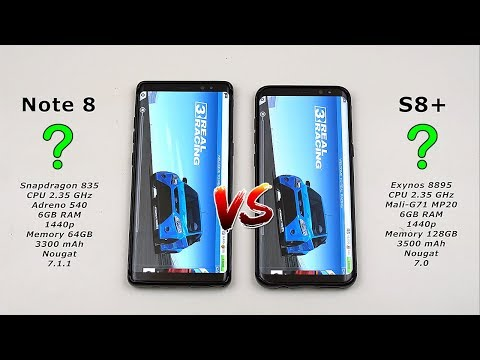 Samsung Note 8 vs Galaxy S8 Plus Speed Test! (Snapdragon 835 vs Exynos 8895 6GB RAM) [4K]