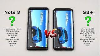 Samsung Note 8 vs Galaxy S8 Plus Speed Test! (Snapdragon 835 vs Exynos 8895 6GB RAM) [4K]