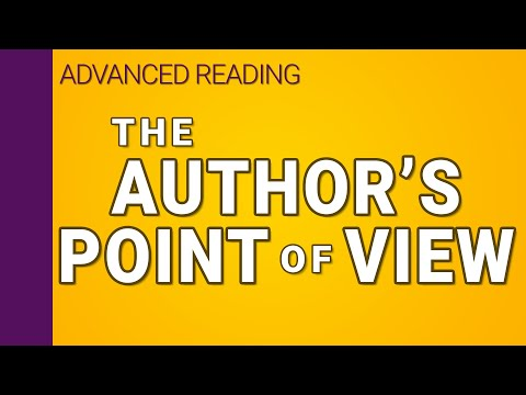The author's point of view in writing (2/3) | Interpreting Series