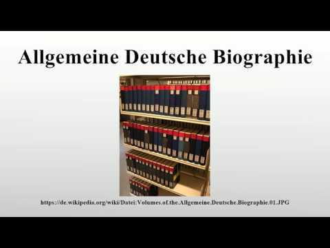 Allgemeine Deutsche Biographie