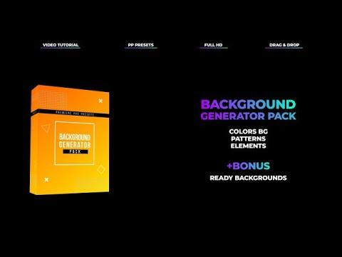 PR: Background Generator Pack - MotionArray 196385 » Adobe Download