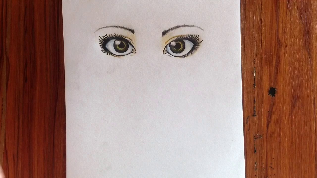 How To Draw Semi Realistic Eyes Timelapse Pj Productions Youtube