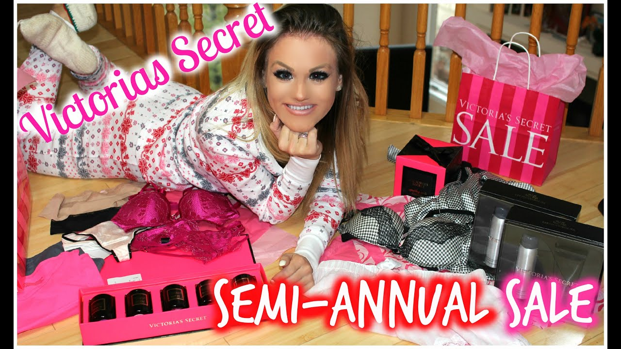 HUGE Victoria's Secret Semi Annual Sale Haul 2015 - YouTube
