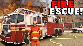Fire Rescue Team, Police Chases and EMS EMERGENCIES! - Flashing Lights Multiplayer Gameplay Roleplay