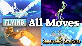 Pokémon Sun & Moon - All 26 Flying-type Moves