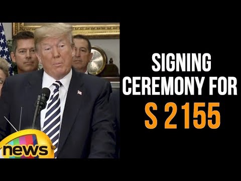 President Donald Trump Participates in the Signing Ceremony for S 2155 | USA Updates | Mango News