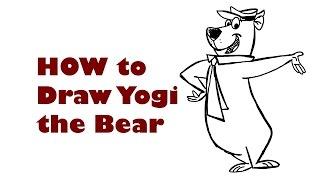 how to draw yogi the bear