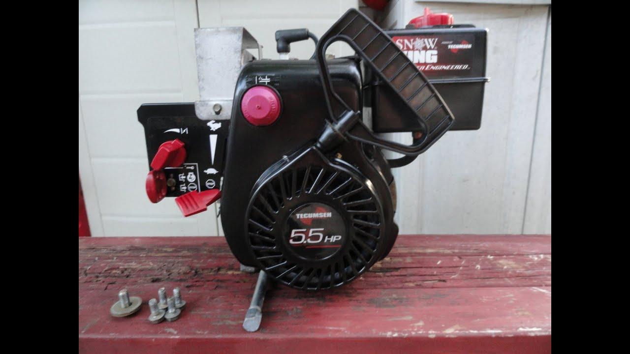 tecumseh engine 5 5 hp 195cc model lh195sp (hssk55) pristine start and run