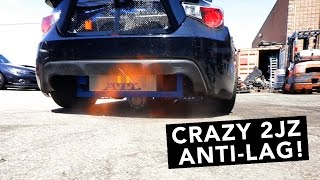 2JZ BRZ Drift Build - Start Up, Anti Lag, Dyno, & Burnout! - EP07
