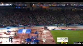 Usain Bolt - 4x100m Final - Commonwealth Record - 37.58