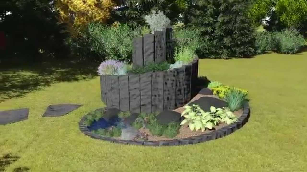 3d garten animation kr uterspirale aus basalt youtube. Black Bedroom Furniture Sets. Home Design Ideas