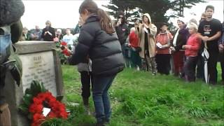 Anzac Day 2013 Bess Memorial Service Bulls New Zealand