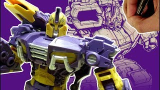 HOW TO DRAW A ROBOT IN ACTION - DRAWING A G1 TRANSFORMERS IMPACTOR COMMISSION