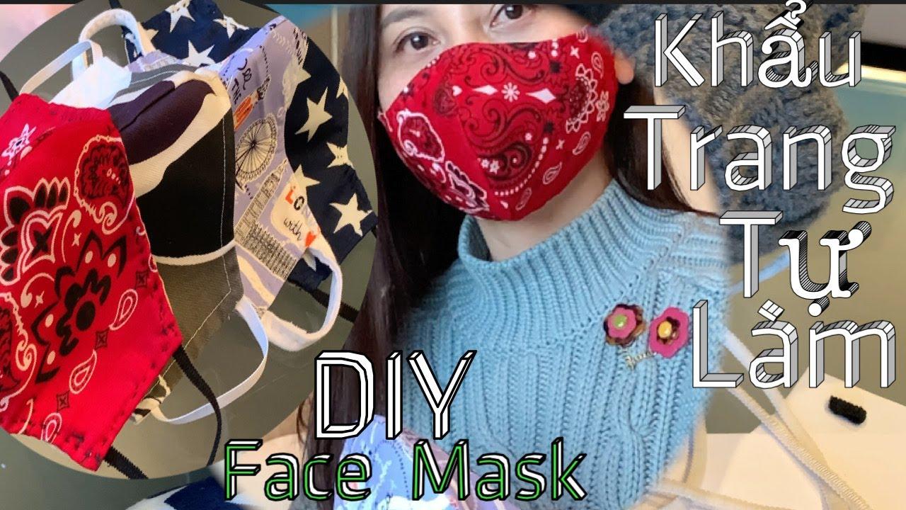 May Khẩu Trang – Hướng Dẫn Cách May Khẩu Trang Dể Ơi Là Dể Ai Củng Làm Được – DIY Fabric Face Mask