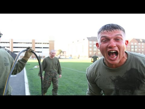 US Marines React To Being Pepper Sprayed...