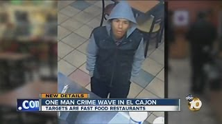 Man sought in series of restaurant holdups in El Cajon(Police are searching for a man suspected in a series of armed restaurant holdups in El Cajon., 2014-01-04T03:57:45.000Z)
