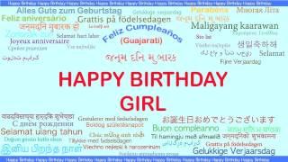 Girl   Languages Idiomas - Happy Birthday