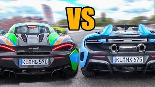 McLaren 675LT Spider VS McLaren 570S - DRAG RACE!