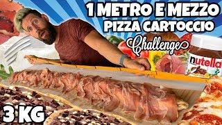 1 METRO E MEZZO DI PIZZA AL CARTOCCIO Challenge - (10000 Calorie) 3 KG Cheat Day - MAN VS FOOD