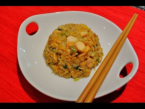 Salmon Fried Rice/三文魚炒飯/Chinese Food, Cooking And Recipes