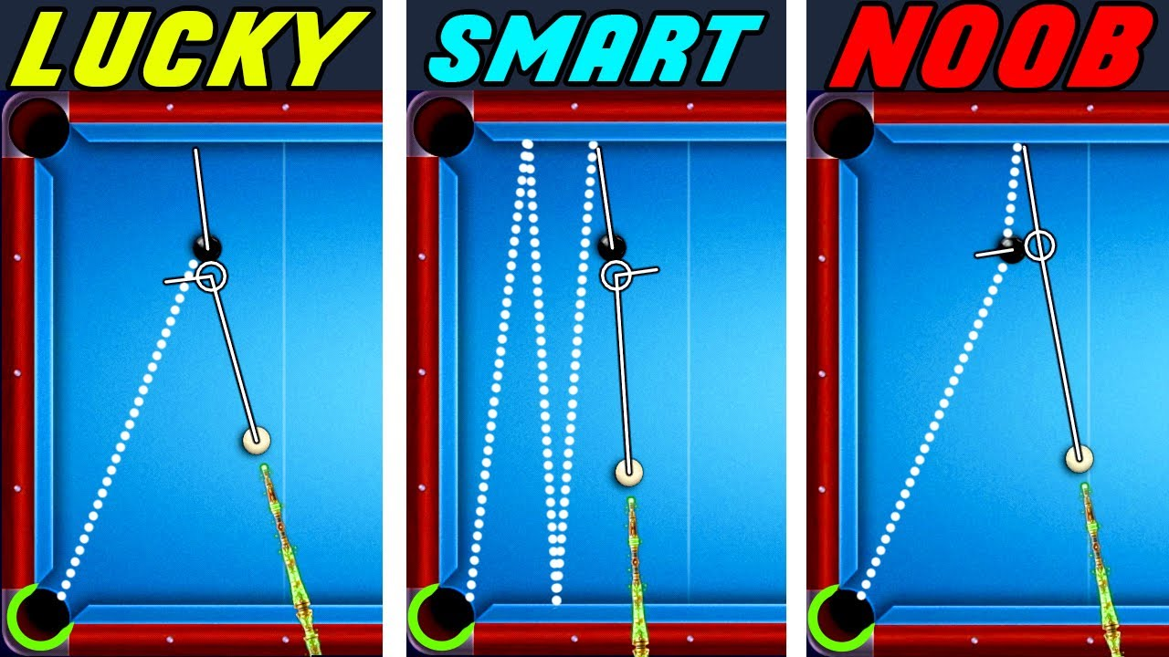 LUCKY vs SMART vs NOOB  8 Ball Pool