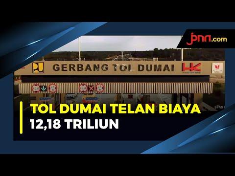 Presiden Jokowi Resmikan Tol Pekanbaru Dumai Sepanjang 131,5 Kilometer