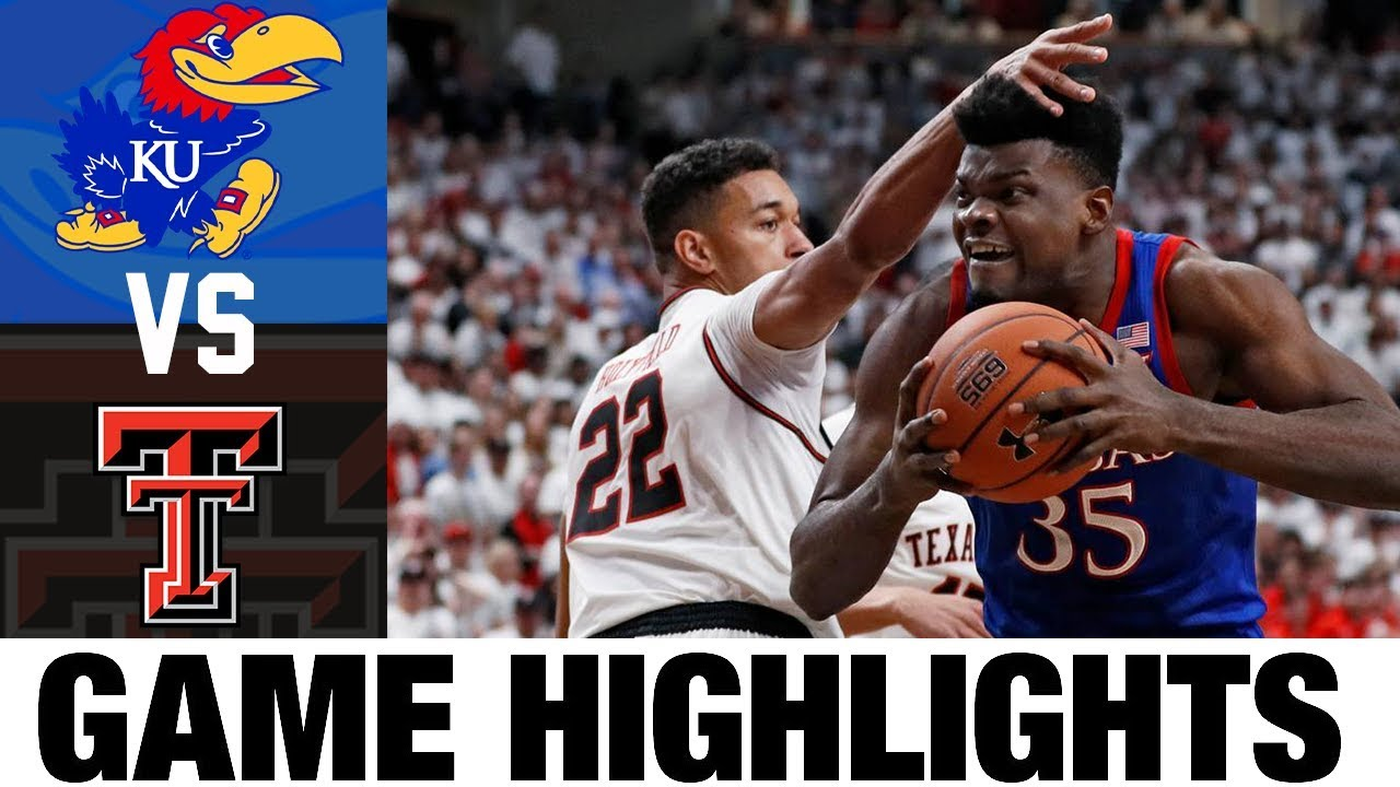 #1 Kansas vs Texas Tech Highlights 2020 College Basketball