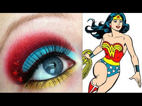 Wonder Woman Inspired Makeup Tutorial - YouTube