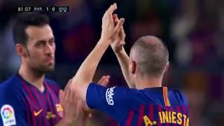 FC Barcelona - Andres Iniesta's Last Game