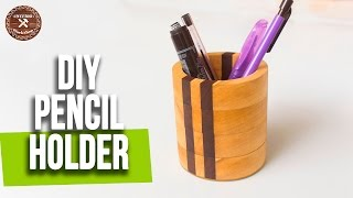 How to make a Wood Pencil Holder without Lathe | Easy Woodworking project | Interio Workshop