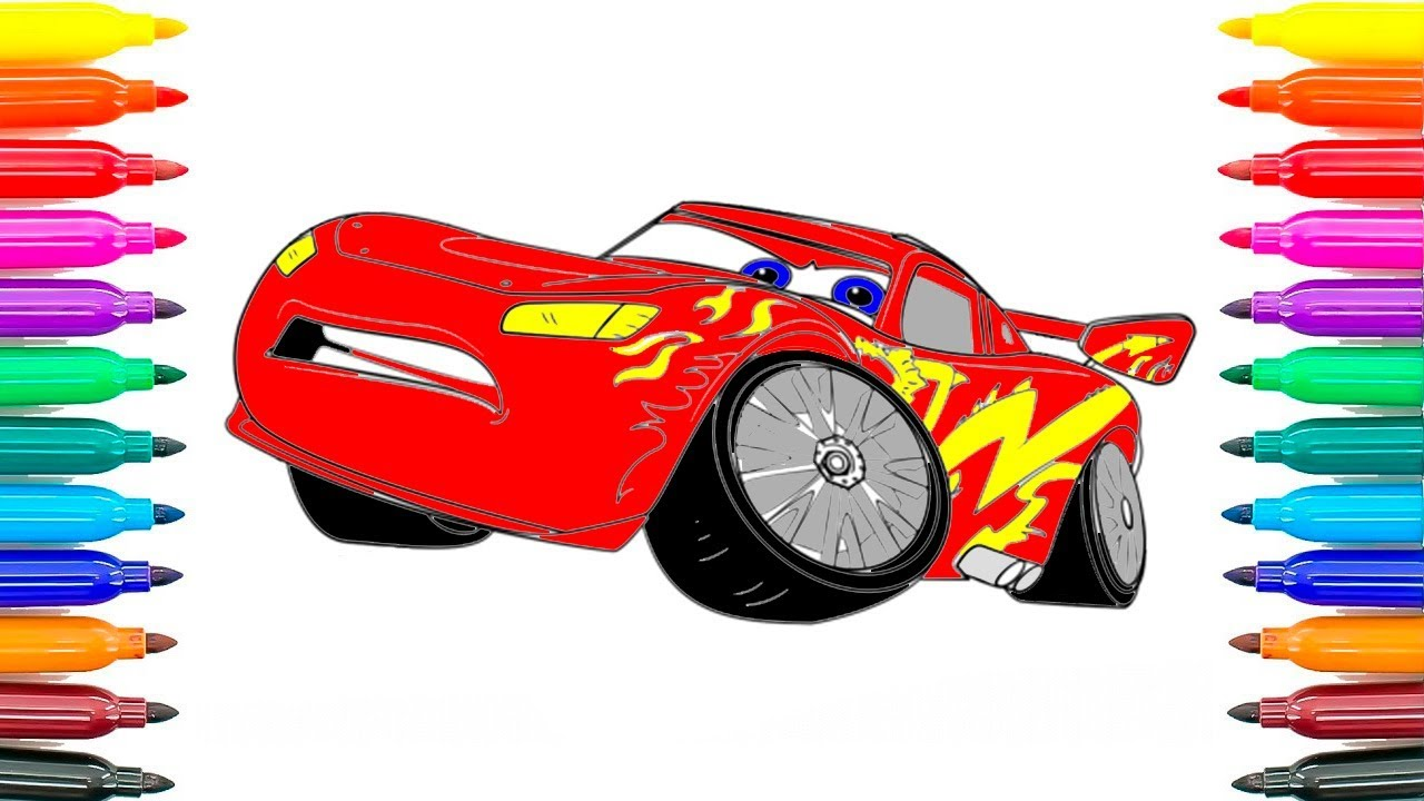 how to draw cars 3 lightning mcqueen learning coloring pages for