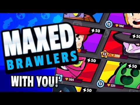 BRAWL STARS MAXED BRAWLER GAMEPLAY - WITH VIEWERS!
